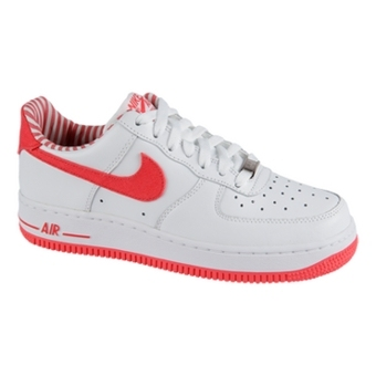 Nike Air Force 1 白/热鸡尾酒色(女子)