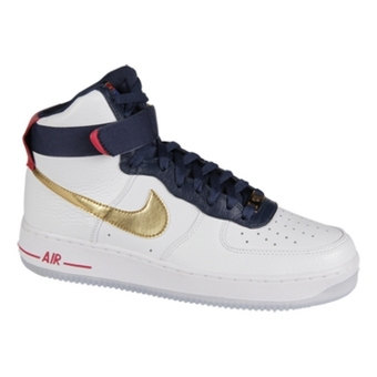 Nike Air Force 1 High Premium 白/金色/深紫蓝