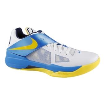 Nike Zoom KD IV 白/旅行黄/亮蓝/深紫蓝