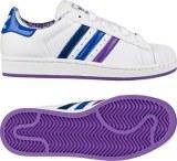 adidas Originals Superstar 2 W 白/实验紫/实验蓝 (女子)