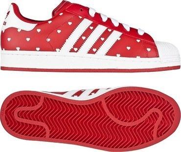 adidas Originals Superstar 2 W 校园红/白/校园红(女子)