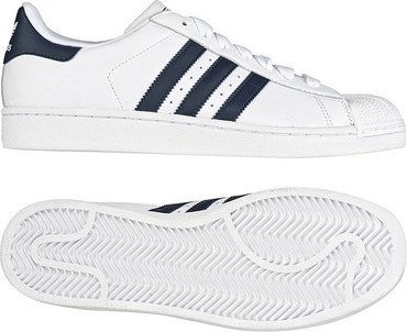 adidas Originals Superstar II 白/新海军蓝