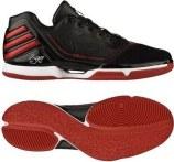 adidas adiZero Rose 2 Low 一号黑/浅猩红/亮白