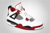 Air Jordan IV 白/黑/红