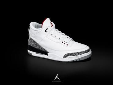 "Air Jordan III ""白爆裂"""