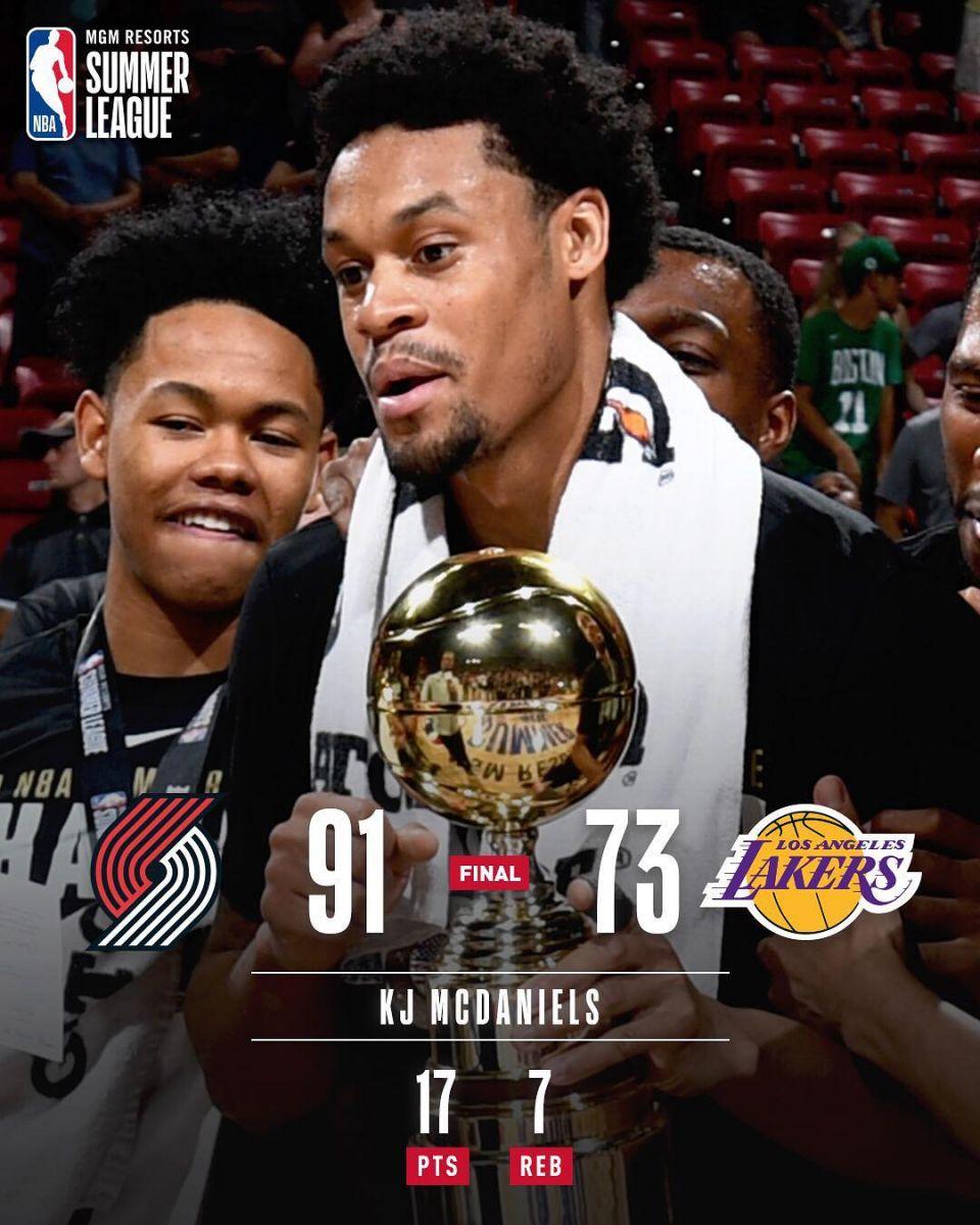 NBA官方宣布明天获胜球队图集开辟者取得夏联总冠军