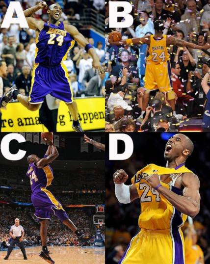 哪一个外型?NBA官方发问科比的雕像该