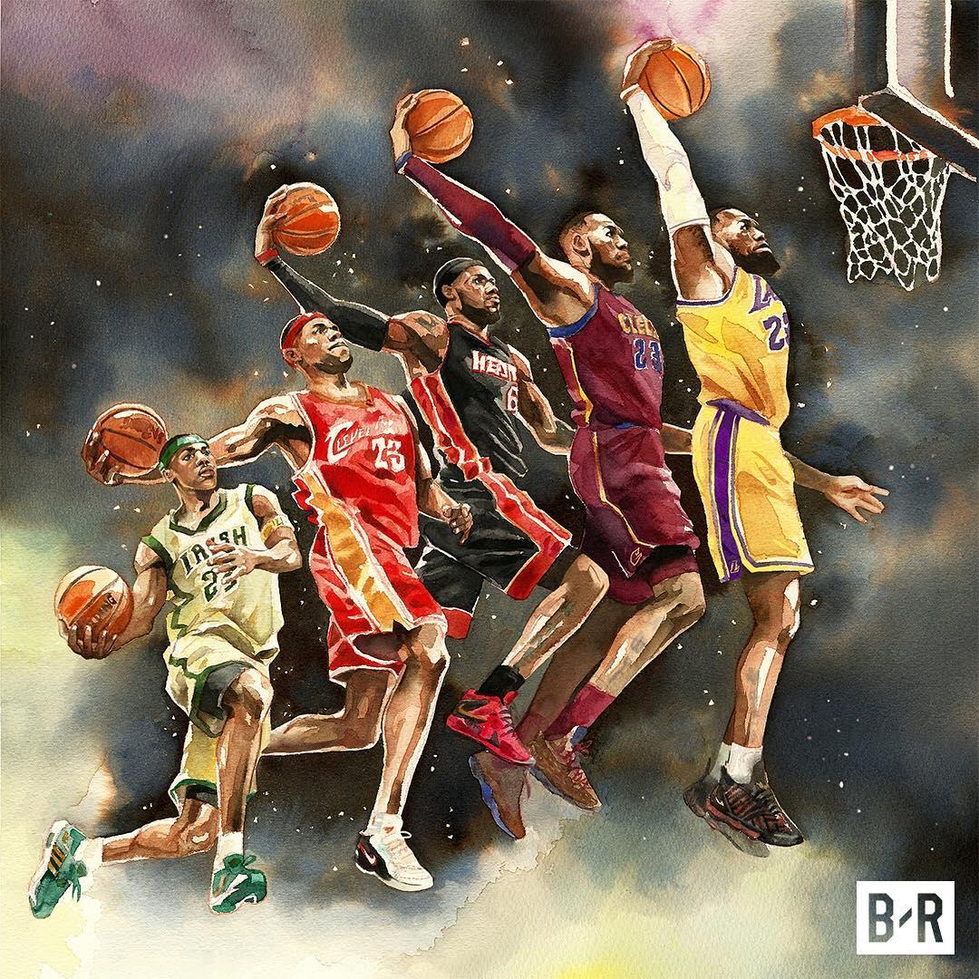 美媒展示詹姆斯个性漫画:第16年即将开启,国王仍在前进_虎扑NBA新闻