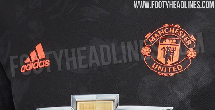 曼联19-20赛季第三球衣疑似流出:黑色搭配橙色