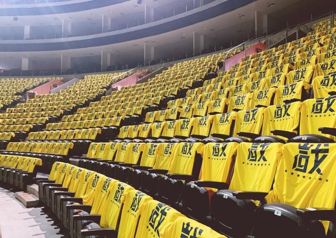 广东主场已铺满助威T恤,关辛:静静等待