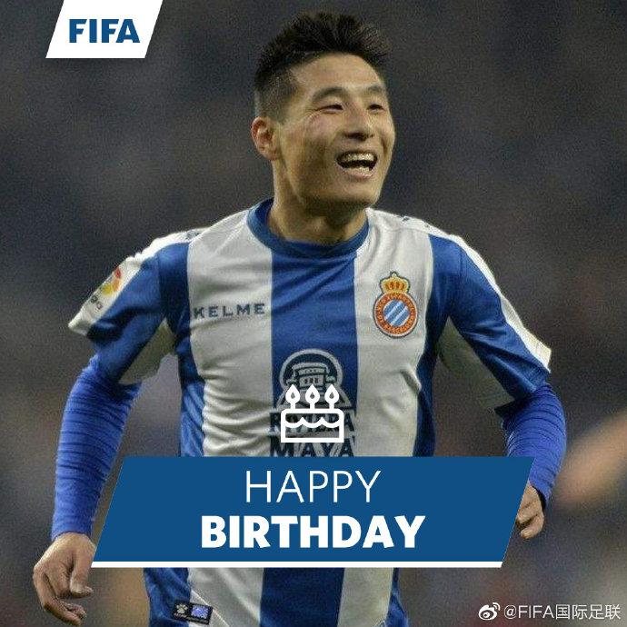 FIFA官博祝福武磊28岁生日:未来漫长,还有期待