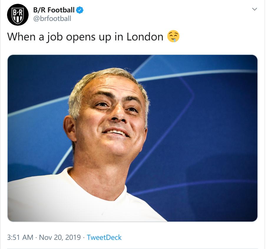 B/R晒穆帅表情包图片:当伦敦有个工作缺人时