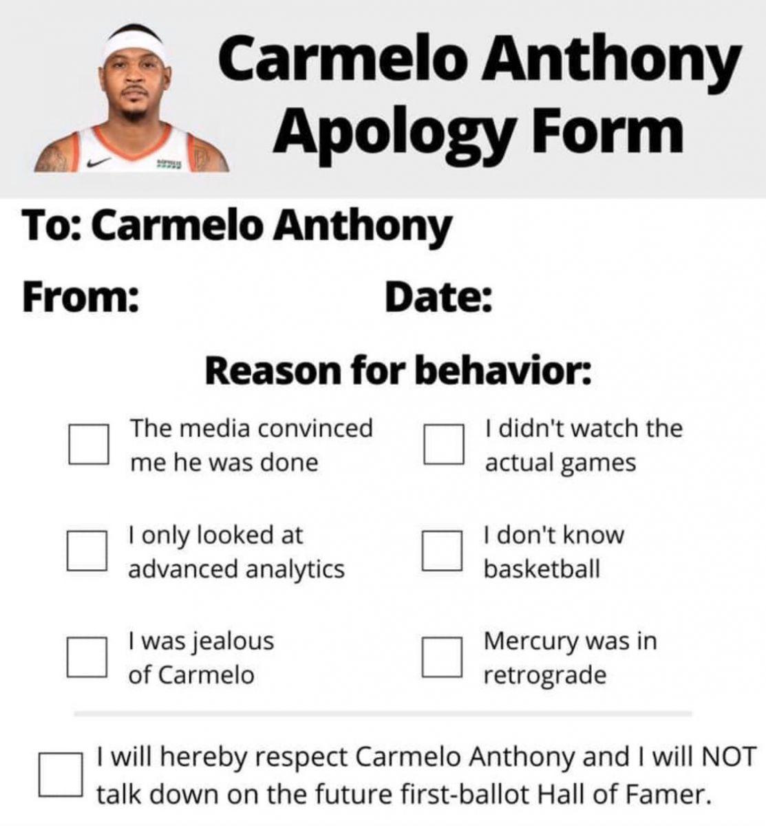 用实力说话!美媒制作向安东尼致歉的申报表向其致敬