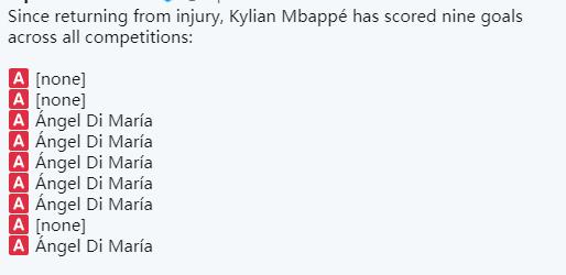 我懂你!姆巴佩最近9粒进球,有6球来自迪马利亚助攻