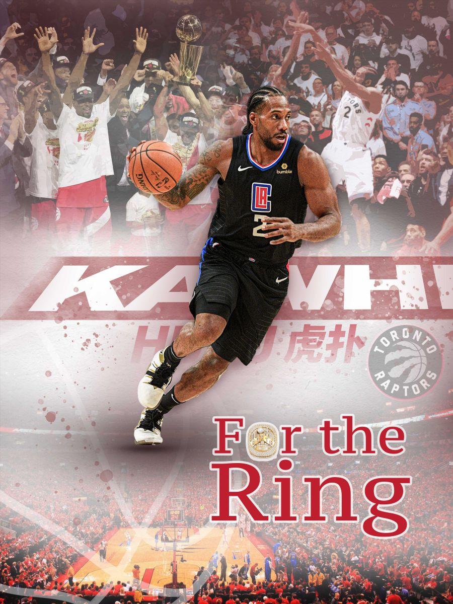 篮板侠得到了戒指!伦纳德赛前从洛瑞手里接过总冠军戒指