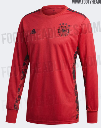 欧洲杯德国国家队门将球衣公布:主色为红色,售价90欧