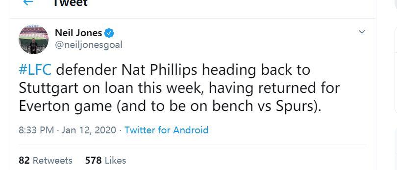 完成使命,利物浦冬窗召回小将即将重新租借回斯图加特