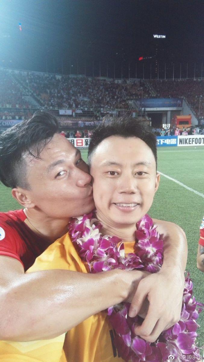 李帅祝福郜林:一起从中甲踢到世俱杯,愿下个10年更辉煌