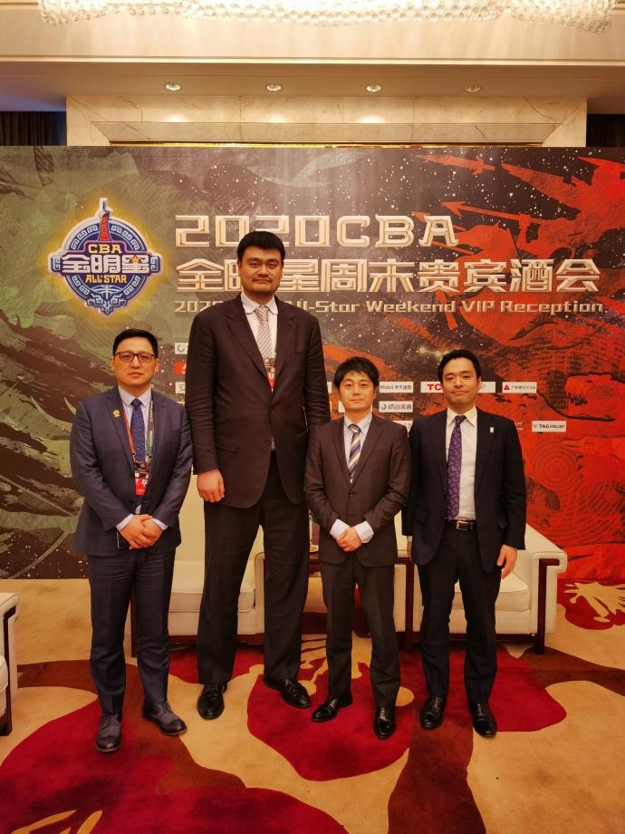日本篮协代表应邀观摩2020CBA全明星周末