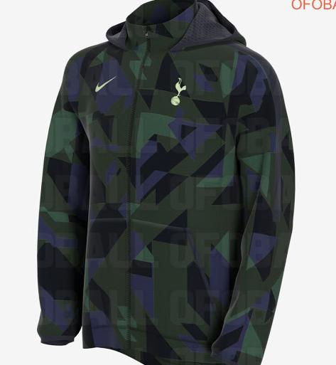 热刺下赛季客场球衣设计谍照:几何迷彩绿