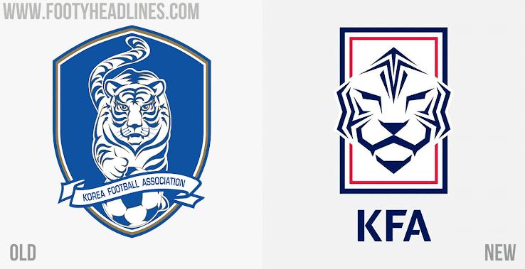 韩国足协发布新logo:足球形白虎头像显眼,底色由蓝变白
