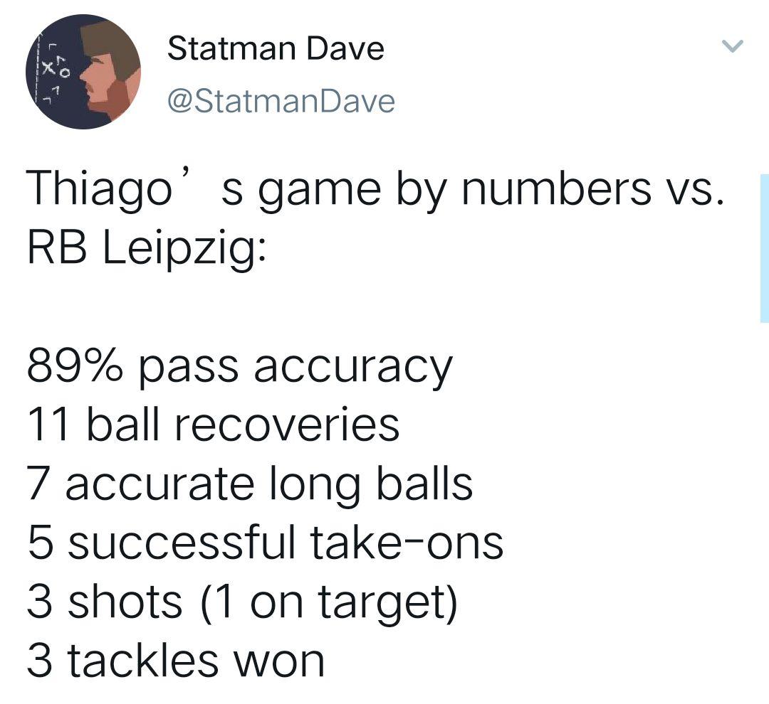 [数据板]六边形战士!蒂亚戈11次夺回球权+5过人闪耀全场