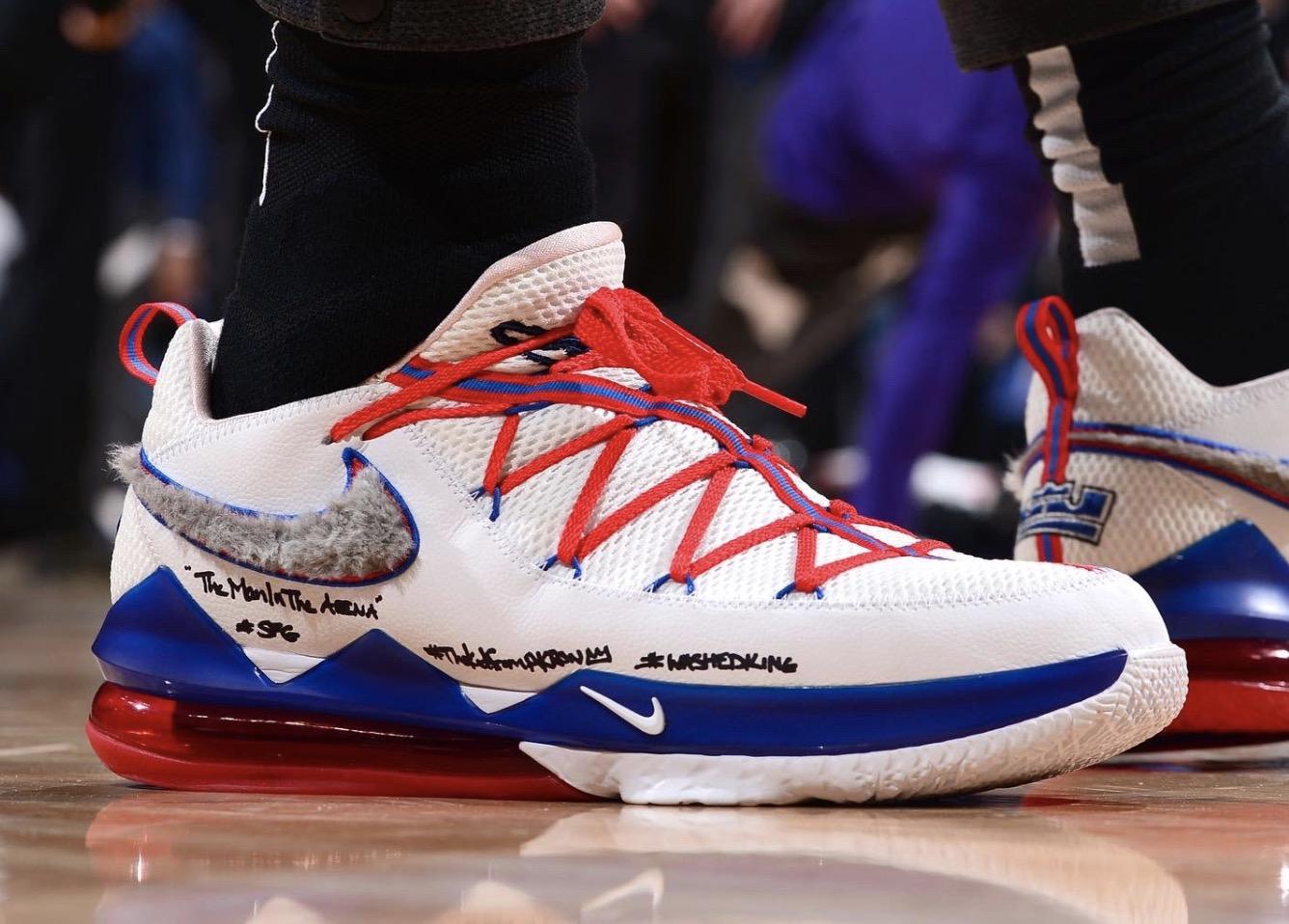 今日球鞋:库兹马上脚Puma新款,詹姆斯上脚LeBron 17