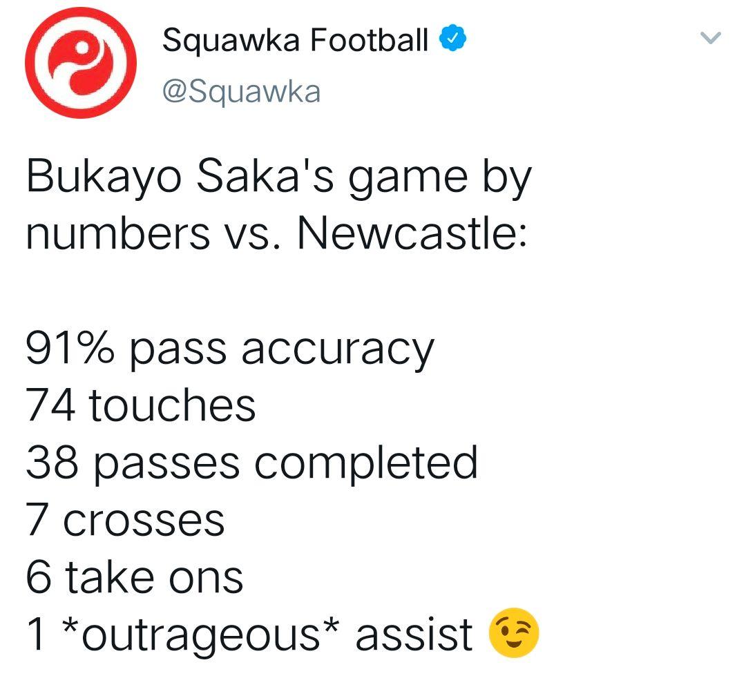 [数据板]前途无量!萨卡助攻+6次过人助阿森纳四球大胜