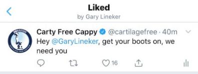 心动了?莱因克尔点赞热刺球迷让他归队的推文