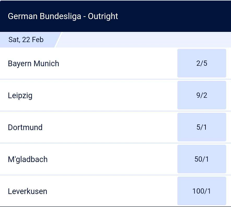 德甲夺冠赔率:拜仁5赔2优势较大,莱比锡多特分列二三位