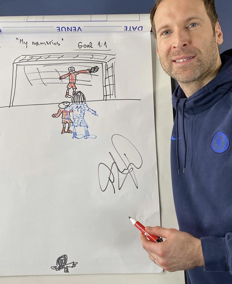 虾仁猪心?切赫绘图回忆2012年欧冠决赛德罗巴点球致胜