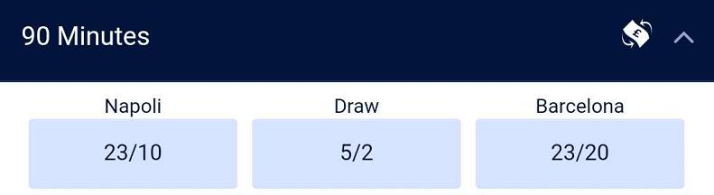 欧冠赔率:巴萨拜仁均客场占优,晋级赔率皆低至9赔2