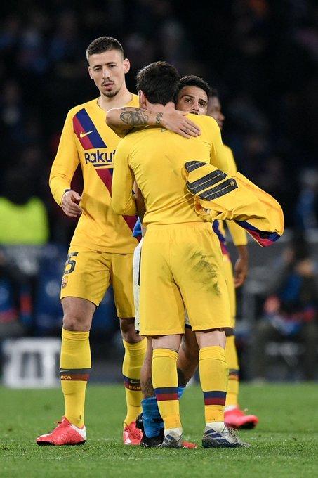 惺惺相惜的对手!赛后因西涅同梅西交换球衣