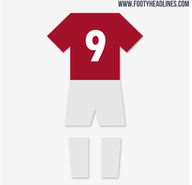 曼联2020/21赛季主场球衣谍照:传统红色+黑黄涂鸦