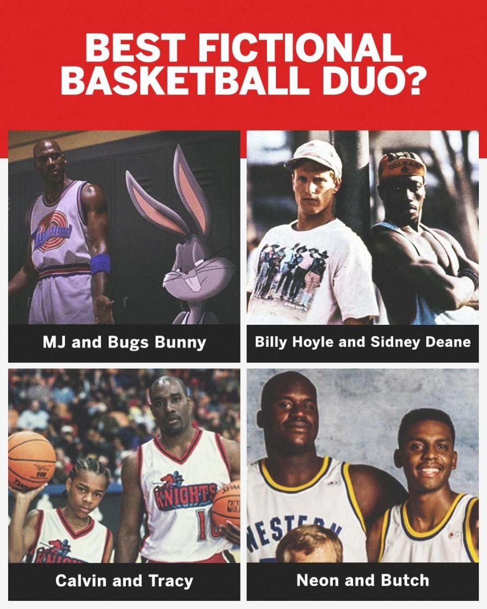 乔丹与兔八哥?美媒评出4大虚拟篮球兄弟组合