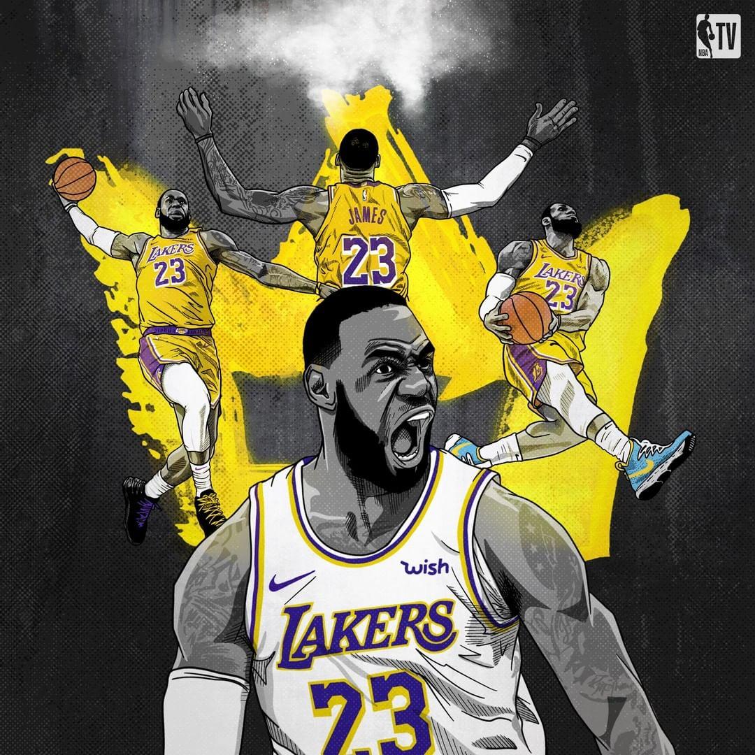 NBA官方社媒晒詹姆斯特效图:他把showtime又带回了LA
