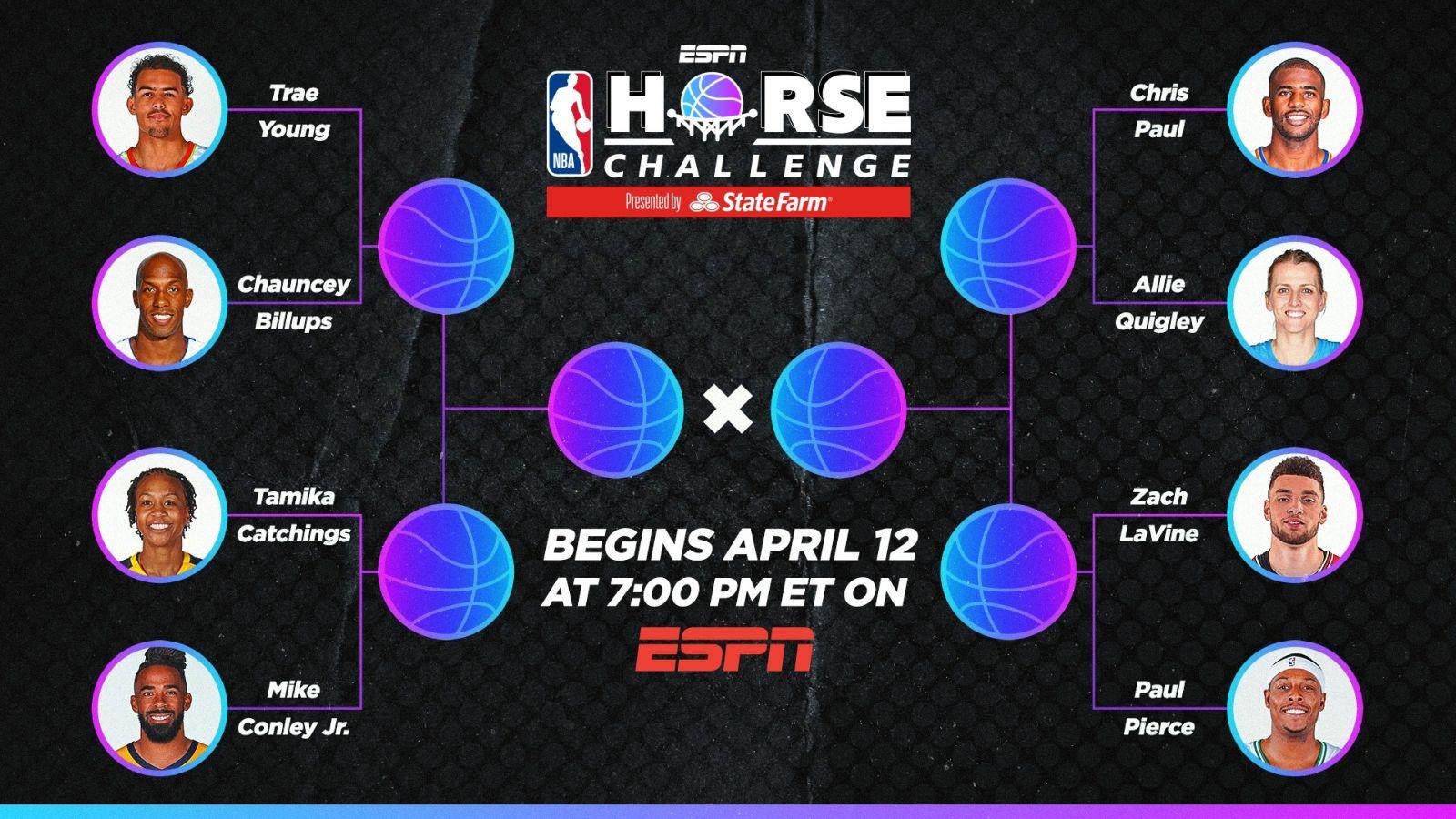 NBA官方宣布HORSE比赛的具体对阵情况
