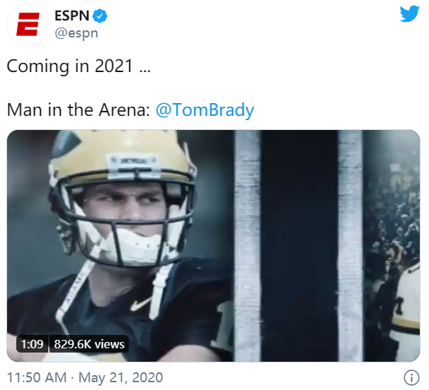 ESPN将在2021播出布雷迪九集纪录片