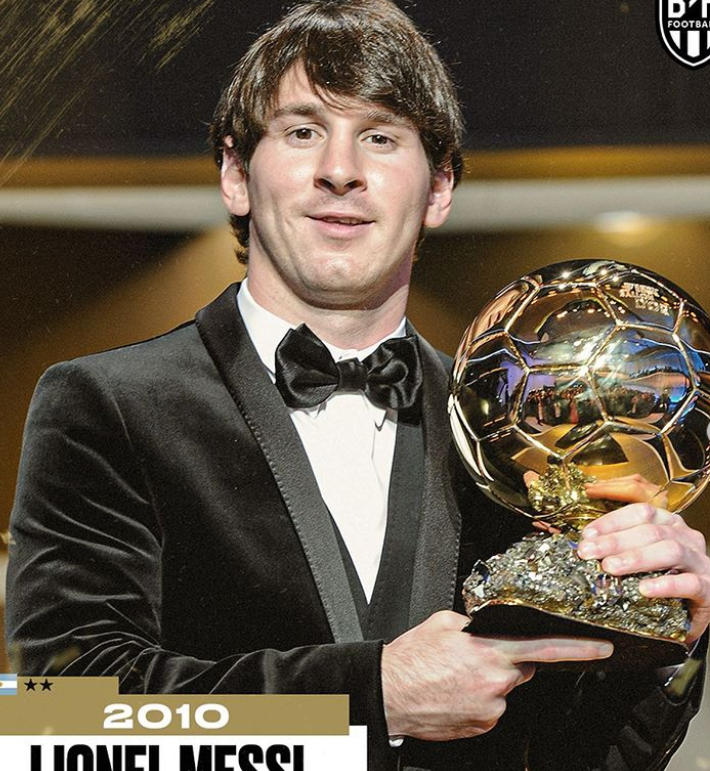 BR海报:梅西、C罗、魔笛获金球奖时赢得的荣誉