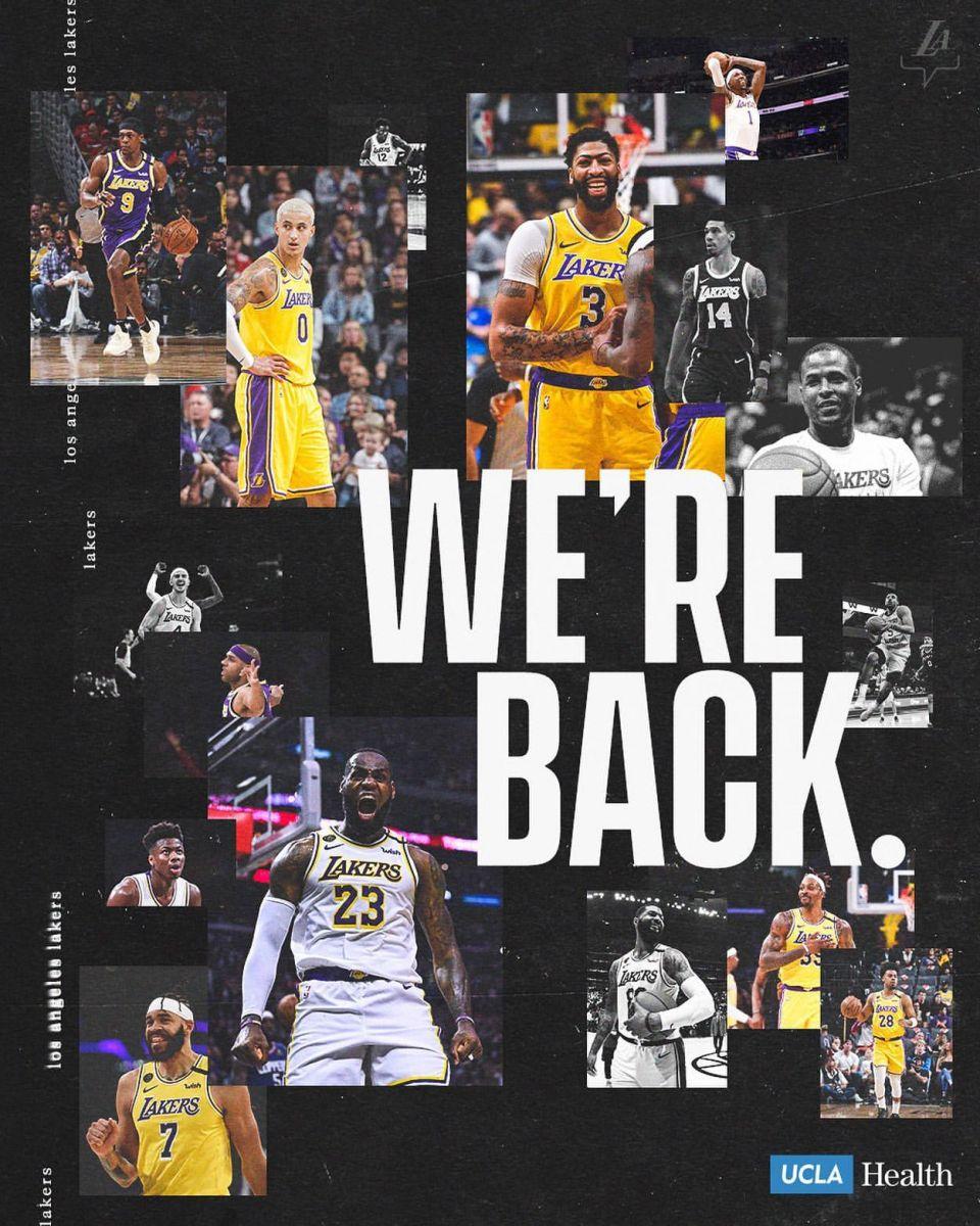 湖人官推制图庆祝赛季回归:我们回来了