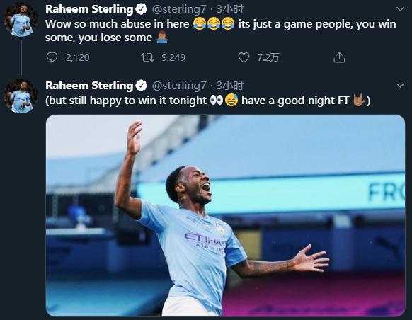 对阵旧主进球,斯特林发推遭围攻:大家啊,这只是场比赛