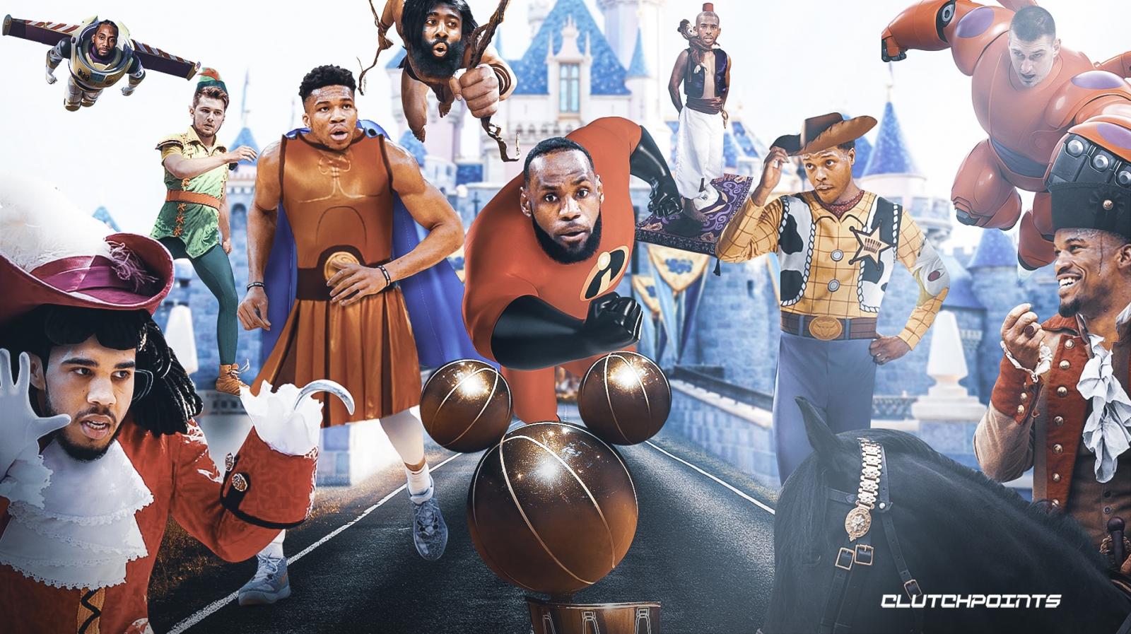 媒体晒众球星与迪士尼人物合成趣图:让比赛开始吧