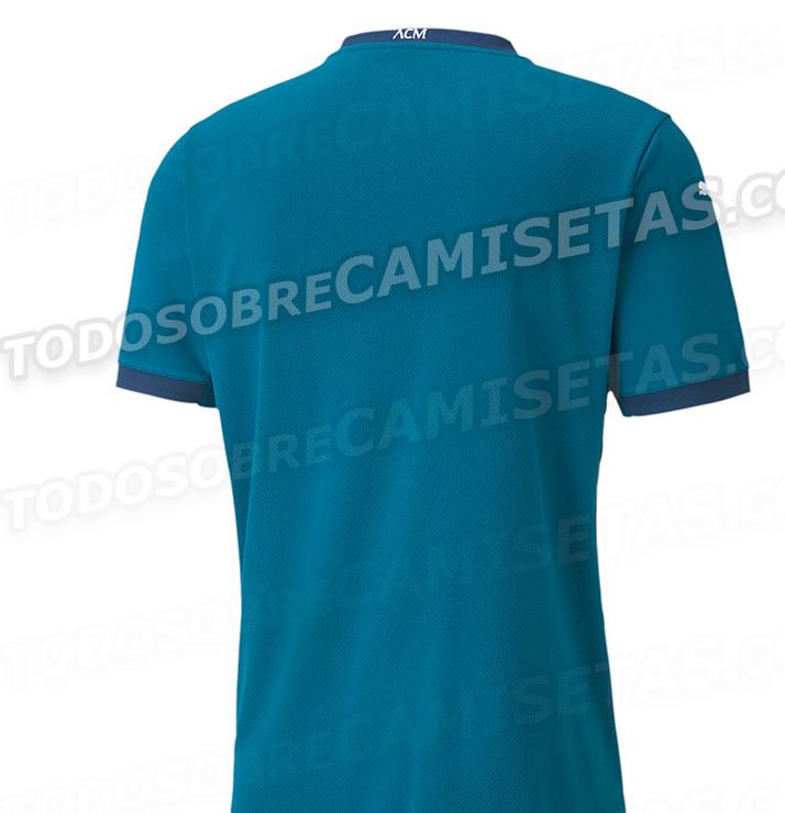 米兰新赛季第三球衣谍照:主体为湖蓝国际足球新闻色,加入千鸟格元素