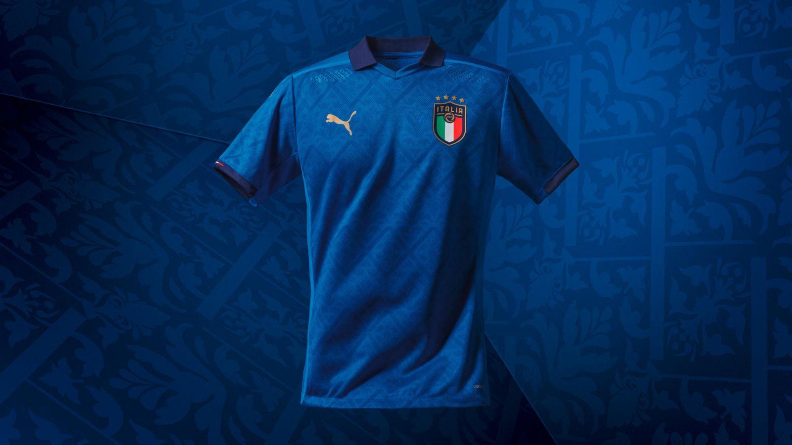 国际足球意大利队发布新版主场球衣,设计灵感源自文艺复兴