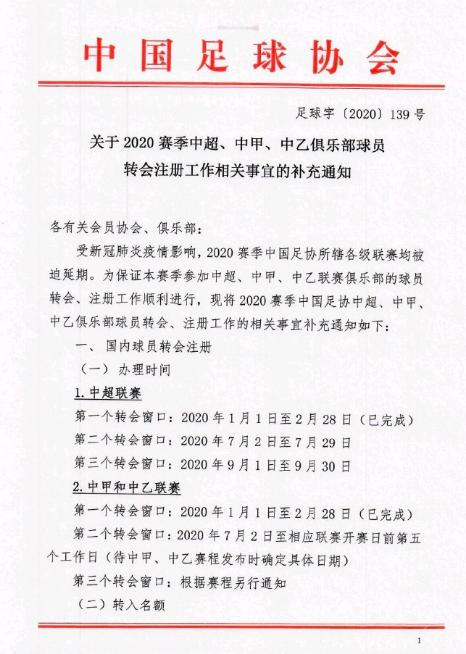足球上树!今天起至9月30日,中国的国际转会窗正式开启!