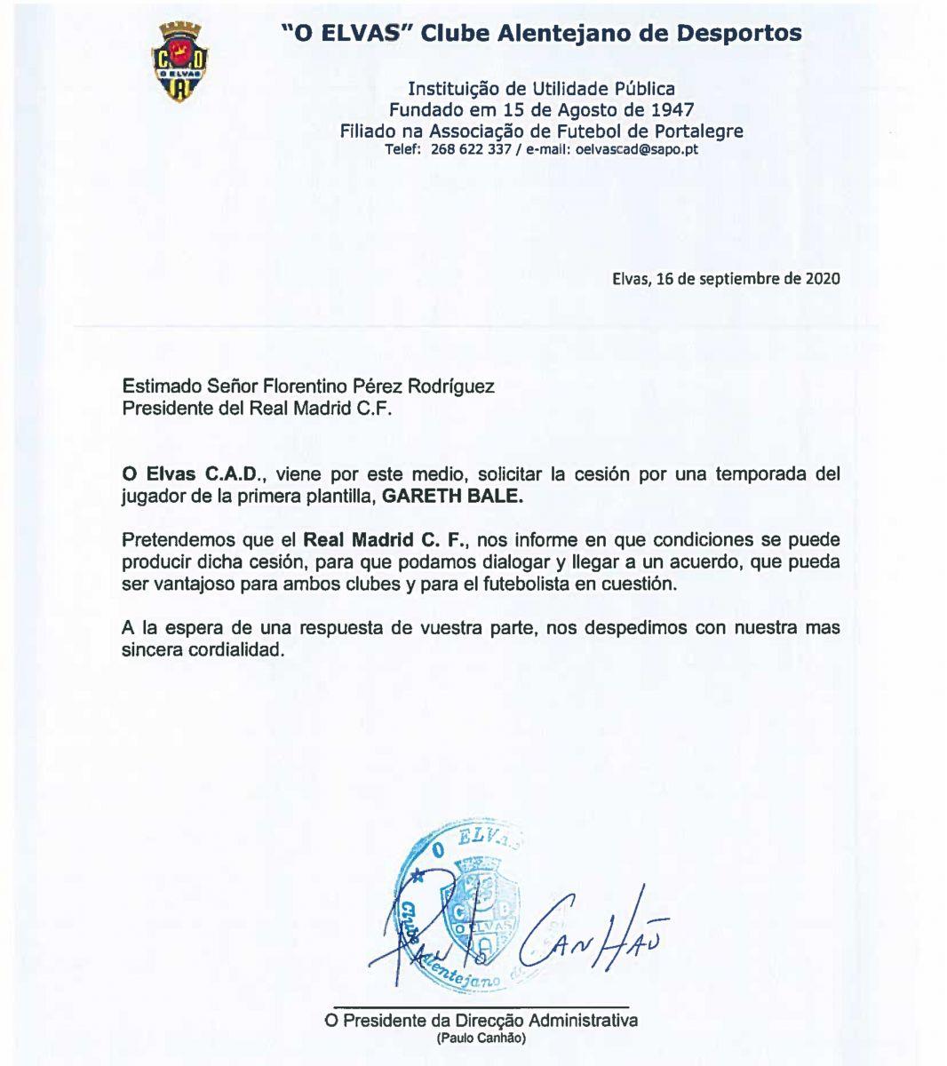 我就蹭蹭?葡萄牙第五级联赛球队致信皇马,想租借贝尔 第2张