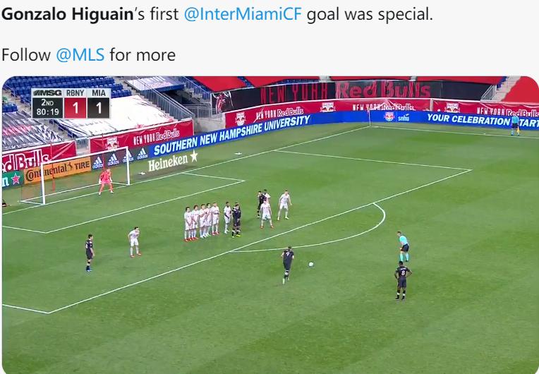 技能扶贫!伊瓜因MLS进任意球,欧洲联赛出场428次没进过