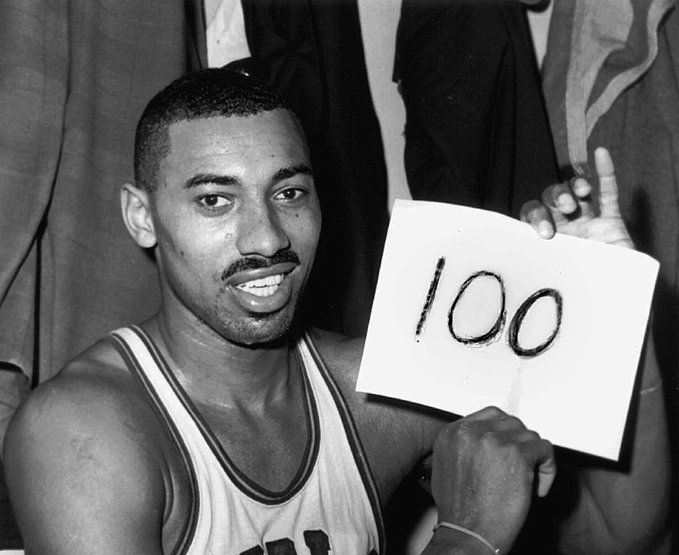 NBA历史上仅6位球员多次得到60+,其中乔丹5次张伯伦32次