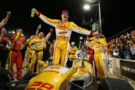 IndyCar新科冠军亨特-雷伊出席ROC