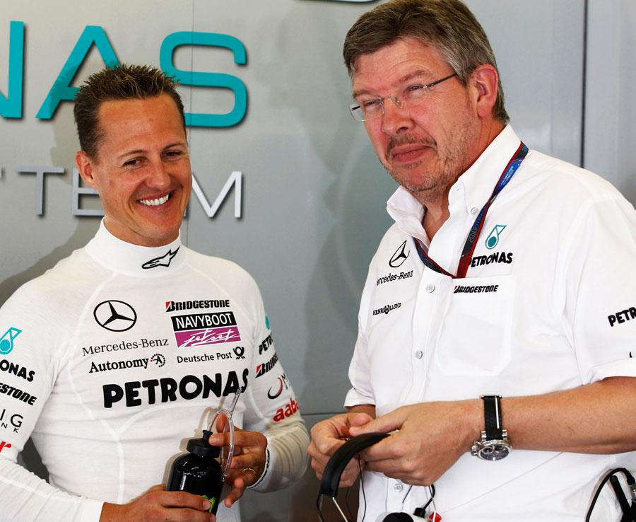 布朗:舒米是本世纪最伟大的赛车手